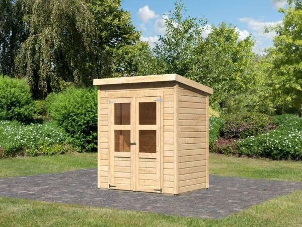 Karibu Gerätehaus Merseburg 2 natur 14 mm