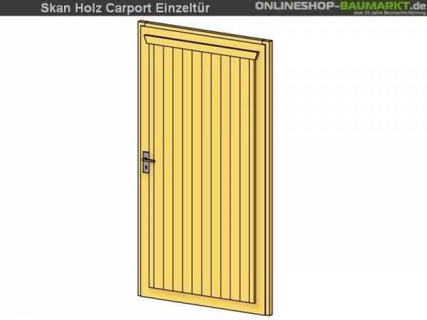Skan Holz Einzeltür für Carports, 98 x 198 cm, unbehandelt