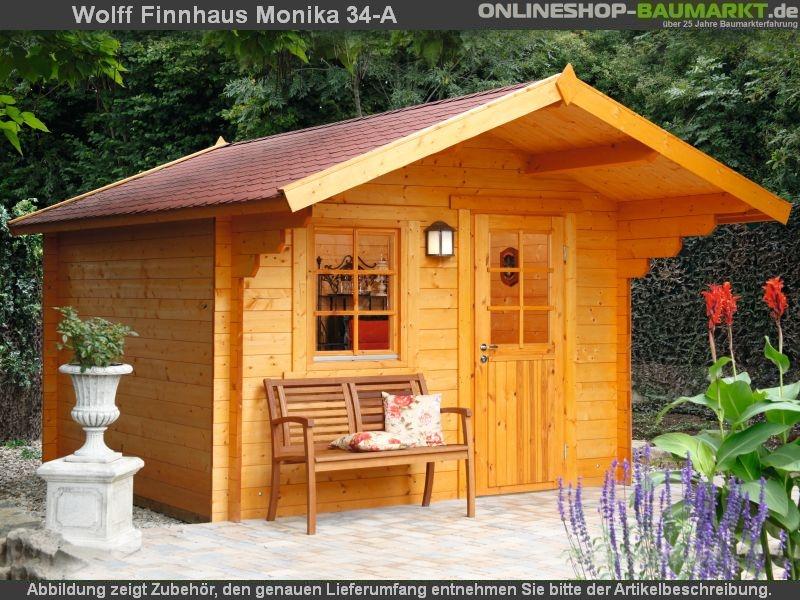 wolff finnhaus satteldach gartenhaus monika 34 a mit einzelt re in einfach zu errichtender. Black Bedroom Furniture Sets. Home Design Ideas