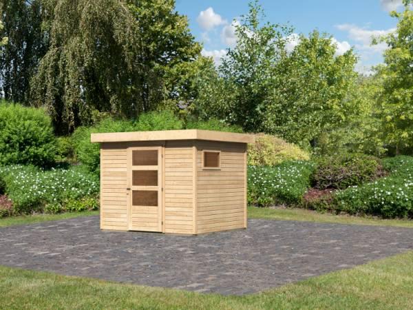 Karibu Woodfeeling Gartenhaus Oburg 3 natur 19 mm