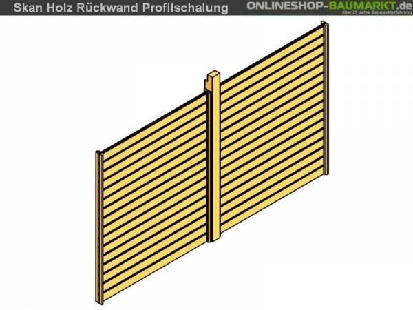 Skan Holz Rückwand für Carport 291 x 200 cm Profilschalung
