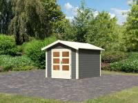Karibu Woodfeeling Gartenhaus Tastrup 4 in terragrau