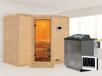 Sahib 2 - Karibu Sauna inkl. 9-kW-Bioofen - ohne Dachkranz -