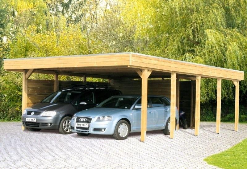 skan holz carport friesland 557 x 708 cm doppel doppelcarport 314218 50 alu aluminium. Black Bedroom Furniture Sets. Home Design Ideas
