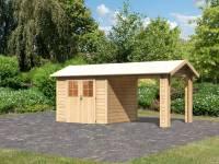 Karibu Gartenhaus Espelo 3 mit einem Dachausbauelement 2,70 m