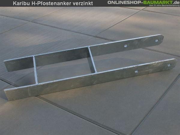 Karibu H-Pfostenanker 12 x 12 x 80 cm 1 St.