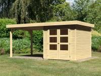 Karibu Woodfeeling Gartenhaus Askola 2 mit Anbaudach 2,75 Meter