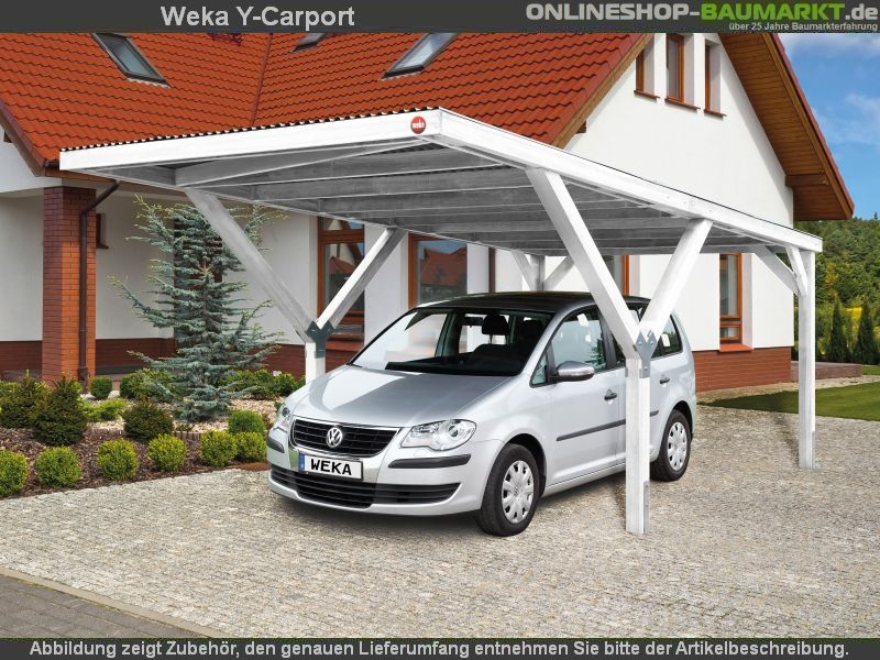 weka carport y carport duo kdi carport mit extravaganter y konstruktion. Black Bedroom Furniture Sets. Home Design Ideas