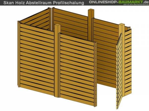 Skan Holz Abstellraum C1 für Carport 314 x 164 cm Profilschalung