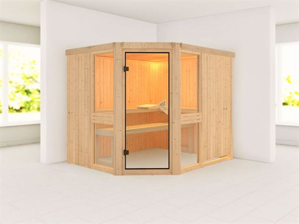 Amelia 3 - Karibu Sauna ohne Ofen - ohne Dachkranz -