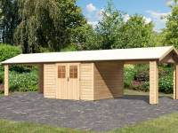 Karibu Gartenhaus Espelo 7 mit zwei Dachausbauelementen 3,40 m