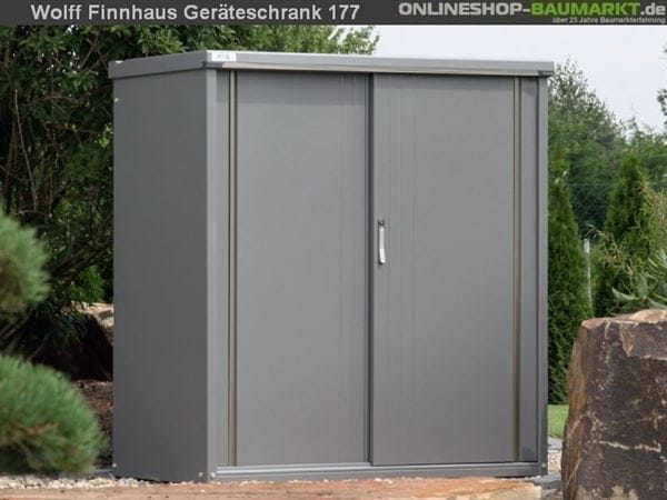 Wolff Finnhaus Geräteschrank 177 rauchgrau Metall-Geräteschrank