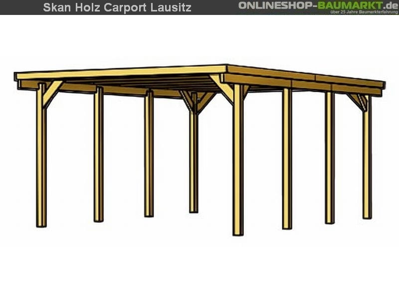 skan holz carport lausitz 312 x 550 cm einzel. Black Bedroom Furniture Sets. Home Design Ideas