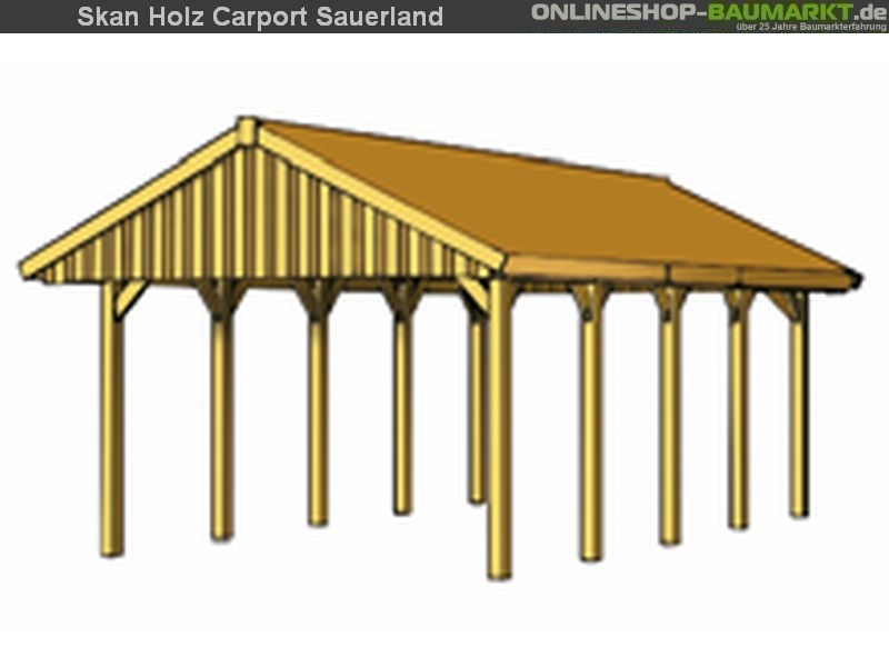 skan holz carport sauerland satteldach 620 x 750 cm dacschalung schalung doppel doppelcarport 322817. Black Bedroom Furniture Sets. Home Design Ideas