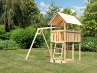 Akubi Spielturm Danny Satteldach + Einzelschaukel