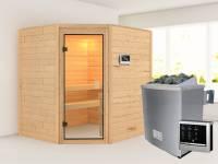 Karibu Sauna Elea 4,5 kW Ofen ext. Strg