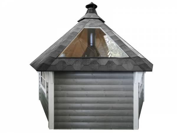 Wolff Finnhaus Glasdachelement für den Einbau in eine Grillkota 9