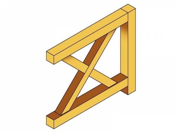 Skan Holz Brüstung für alle Pavillons Andreaskreuz