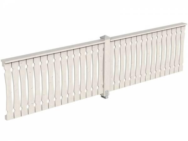 Skan Holz Brüstung für Pavillons 400 cm Balkonschalung in weiß