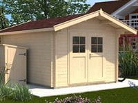 Weka Gartenhaus 112 Gr 5 Vordach 60 cm