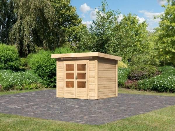 Karibu Woodfeeling Gartenhaus Kandern 2 natur 28 mm