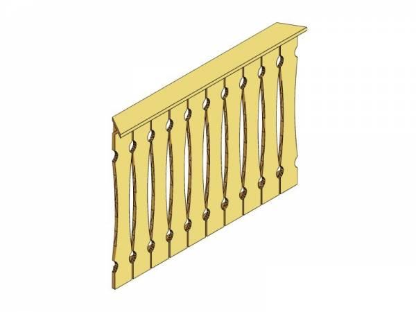 Skan Holz Brüstung für Pavillons 150 cm Balkonschalung