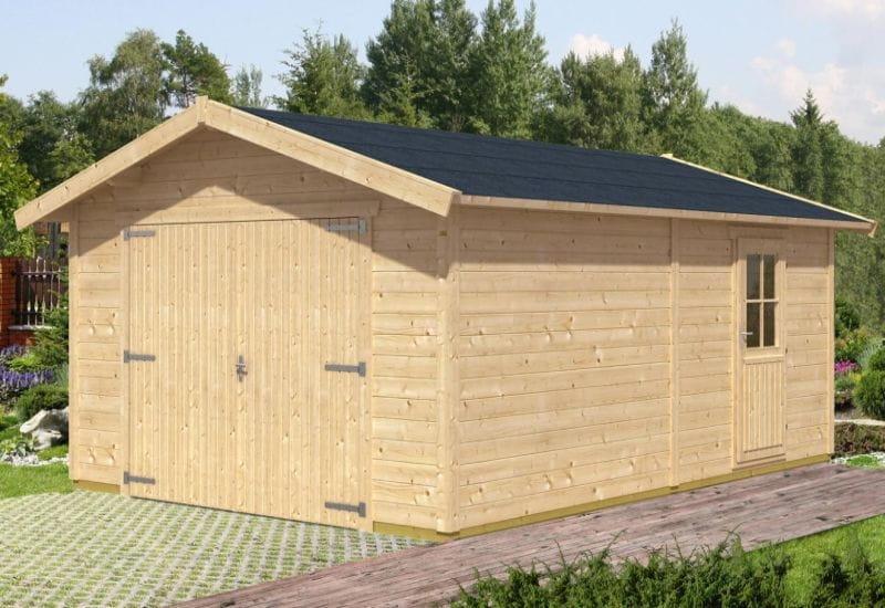 blockbohlengarage varberg 1 370 x 525 cm von skan holz. Black Bedroom Furniture Sets. Home Design Ideas