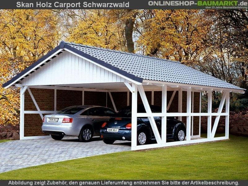 Skan Holz Carport Schwarzwald 684 x 600 cm