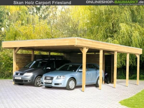 Skan Holz Carport Friesland 557 x 555 cm