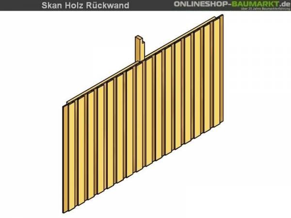 Skan Holz Rückwand für Carport 355 x 200 cm Deckelschalung