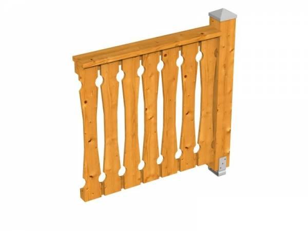 Skan Holz Brüstung in eiche hell für alle Pavillons Balkonschalung