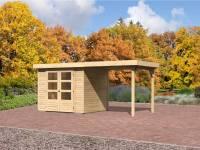 Karibu Gartenhaus Jever 3 mit Anbaudach 2,40 Meter