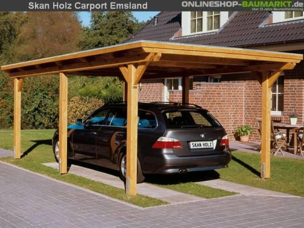 Skan Holz Carport Emsland 354 x 604 cm Leimholz