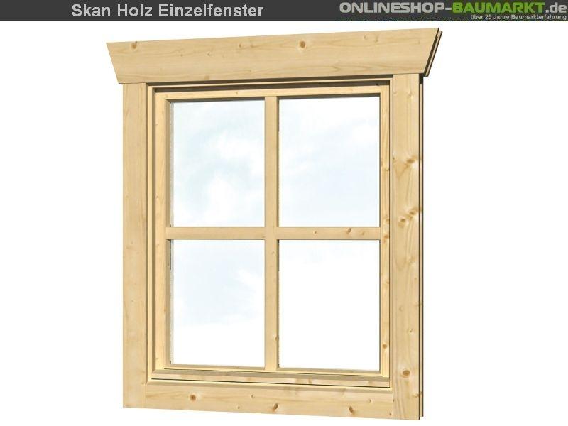 Skan Holz Einzelfenster 45 mm, Anschlag rechts