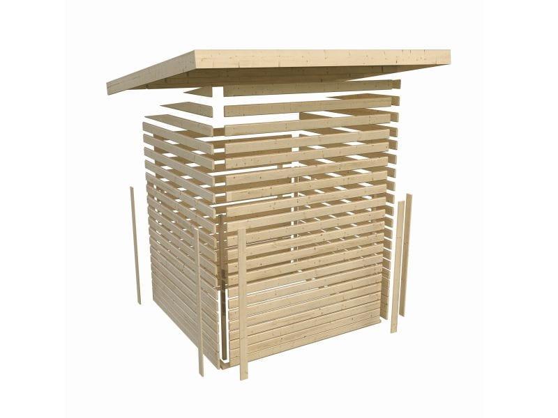 karibu gartenhaus gl cksburg 2 terragrau g nstig bei osb. Black Bedroom Furniture Sets. Home Design Ideas