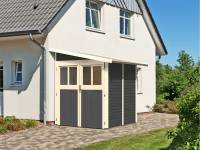 Karibu Gartenhaus Wandlitz 2 terragrau 19 mm