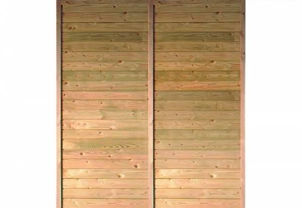 Karibu Seitenwand für Einzel- / Doppel-Carport kdi