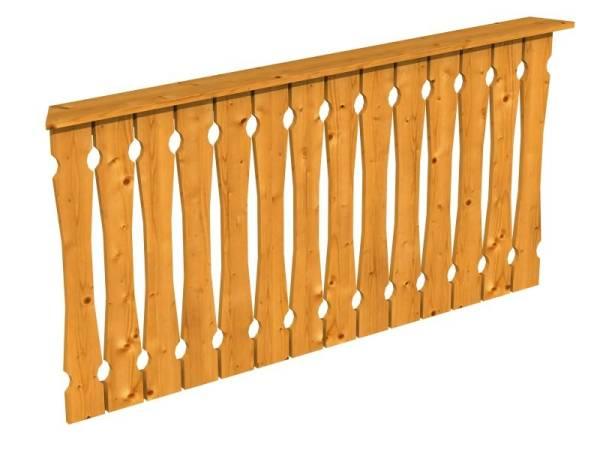 Skan Holz Brüstung für Pavillons 180 cm Balkonschalung in eiche hell