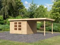 Karibu Woodfeeling Gartenhaus Askola 6 natur mit Anbaudach 2,8 Meter