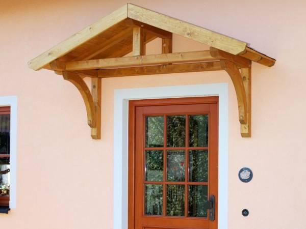 Skan Holz Vordach Stettin unbehandelt, 180 x 80 cm für Einzeltür