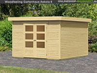 Karibu Woodfeeling Gartenhaus Askola 6 natur 19 mm
