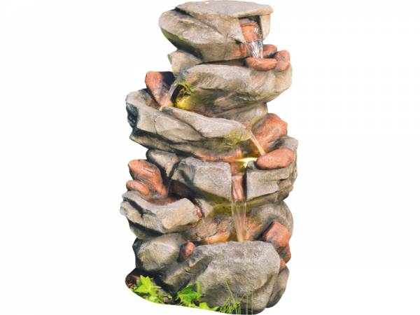 Granimex Minu Wasserfall - inkl. Pumpe und LED-Beleuchtung