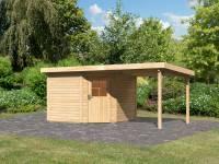 Karibu Woodfeeling Gartenhaus Neuruppin 3 natur mit Schleppdach 2,40 Meter
