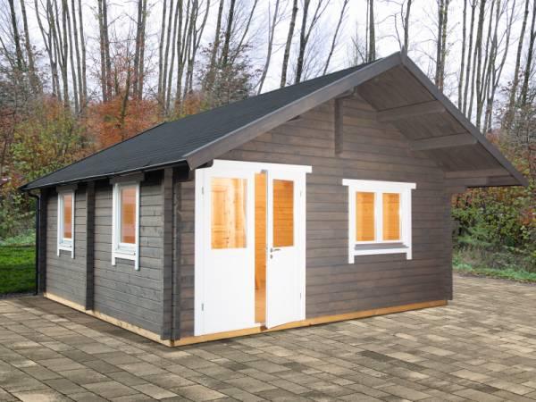 Wolff Finnhaus Freizeithaus Lappland 70-A XL mit Schlafboden