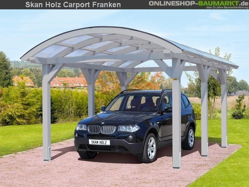 Skan Holz Carport Franken 376 x 969 cm Einzel Einzelcarport 245123 ...