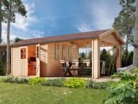 Karibu Gartenhaus Espelo 7 mit einem Dachausbauelement 3,40 m