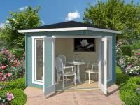 Weka 5-Eck Gartenhaus 408 türkis 40 mm