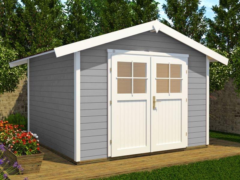 Weka Gartenhaus 122 Gr. 4 grau 28 mm