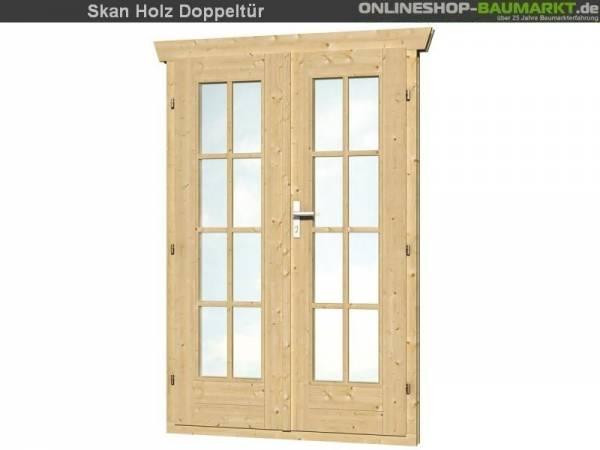 Skan Holz Doppeltür vollverglast 28 mm