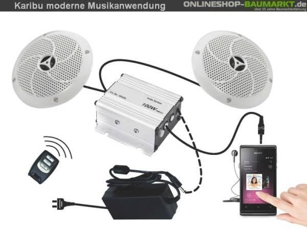 Karibu Sauna Musikanwendung Premium inkl. Lautsprecher